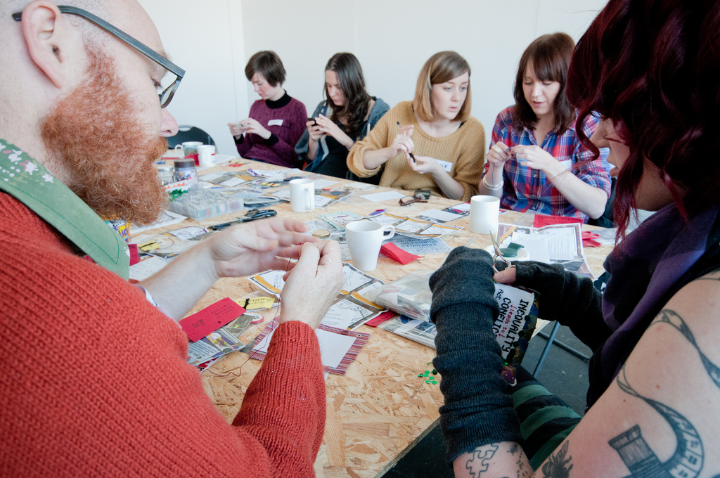 A stitch-in with the Royal Standard arts collective in Liverpool in their studio