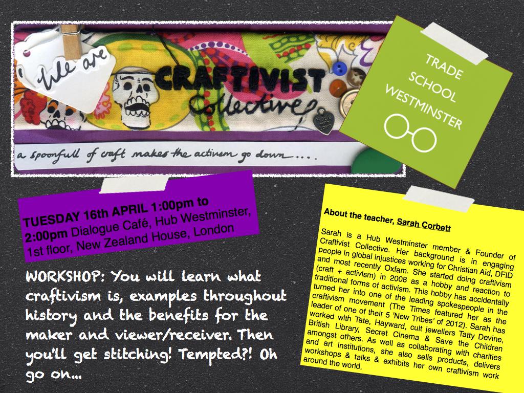 Trade School Craftivism workshop.001