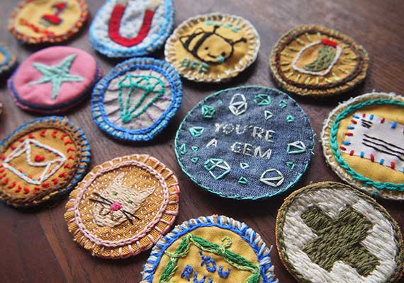 Etsy DIY merit badges