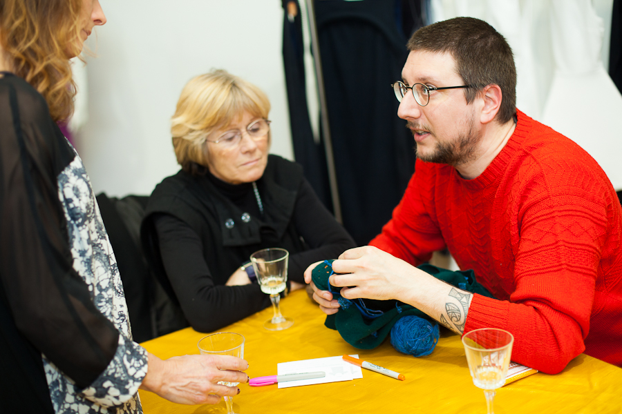 the lovely Tom of Holland sharing his darning skills with others. He taught me to darn and was a very patient teacher :)