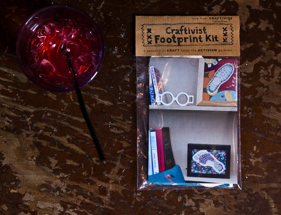If you can't attend, don't worry you can buy a Craftivist Footprint kit on our Etsy shop