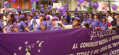 Women campaigning for fair wages