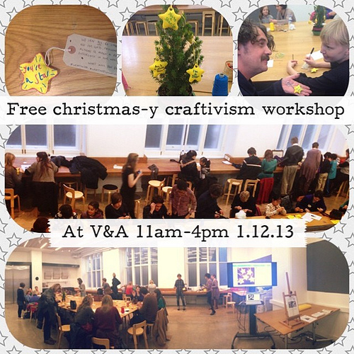 """You're a Star"" Craftivism workshop at the V&A, London 11am-4pm drop in free session"