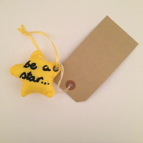 Step 7: Final step is to attach a tag and write a personalised message on to the person you are giving your star to