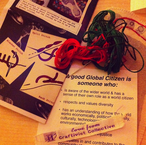 part of our #CraftivistFootprint kits we were using at the workshop