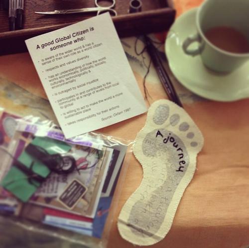 Craftivist Sarah Price's footprint