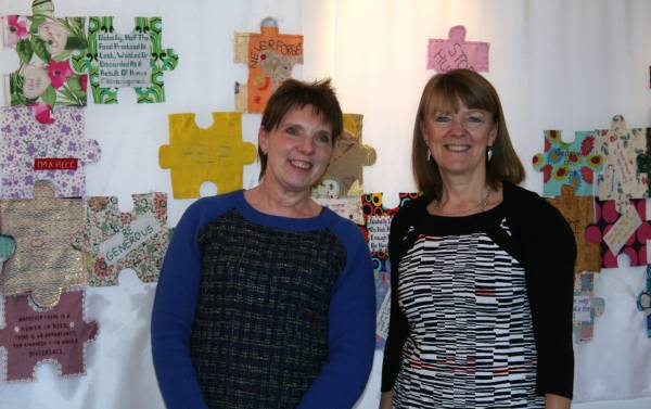 Alex (left) and Karen Rowe on duty at the private view