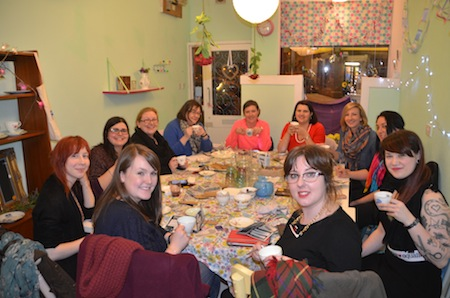 A group shot by Laura of our full table in cosy Cushion & Cake workshop venue. All images by Laura Polson