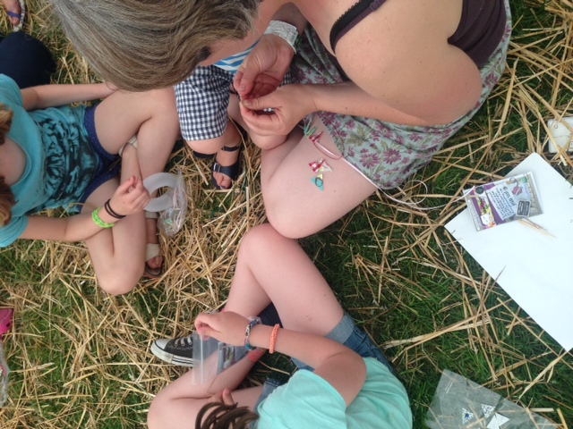 Craftvism kids session at Also Festival June 2014.