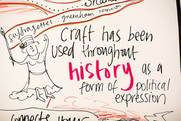 I gave a bit of background on how craft had been used throughout history for political change
