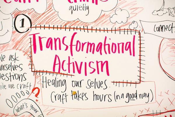 1 focused on 5 ways craft can be useful in the activism toolkit. 1 it helps transform ourselves before we ask other to change