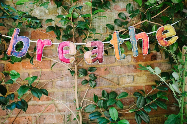 'Breathe' soft sculpture bunting photo by Tom Price