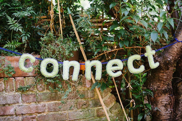 'Connect' soft sculpture bunting photo by Tom Price