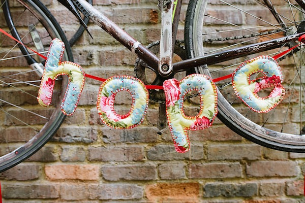 'Hope' soft sculpture bunting photo by Tom Price