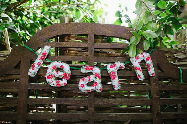 'Learn' soft sculpture bunting photo by Tom Price