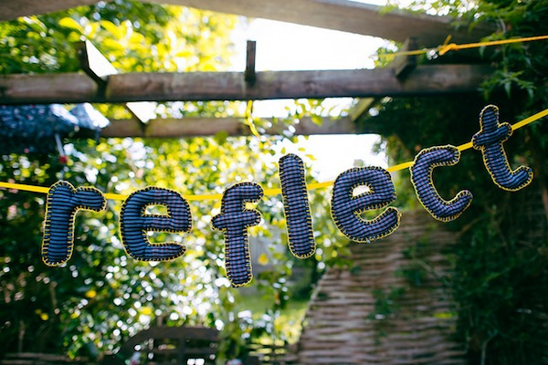 'Reflect' soft sculpture bunting photo by Tom Price