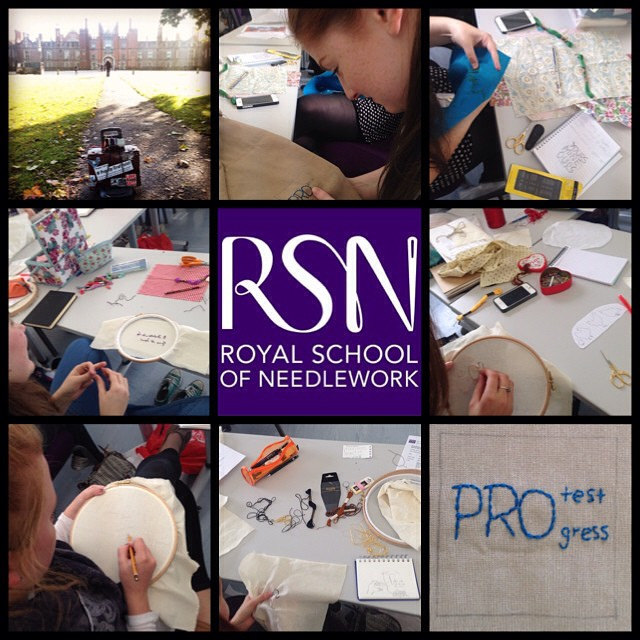 We are working a lot with different academic institutions including in Gothenburg (Sweden) and Royal School of Needlework (England) amongst others