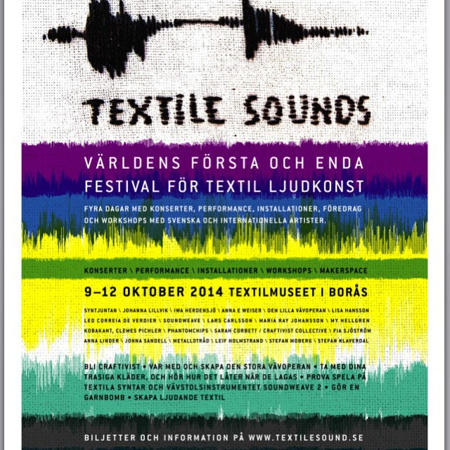 We were invited to deliver a talk, workshop and be part of a performance with the curators of Textile Sounds in Textil Museet, Böras in Sweden - of course we said yes!:)