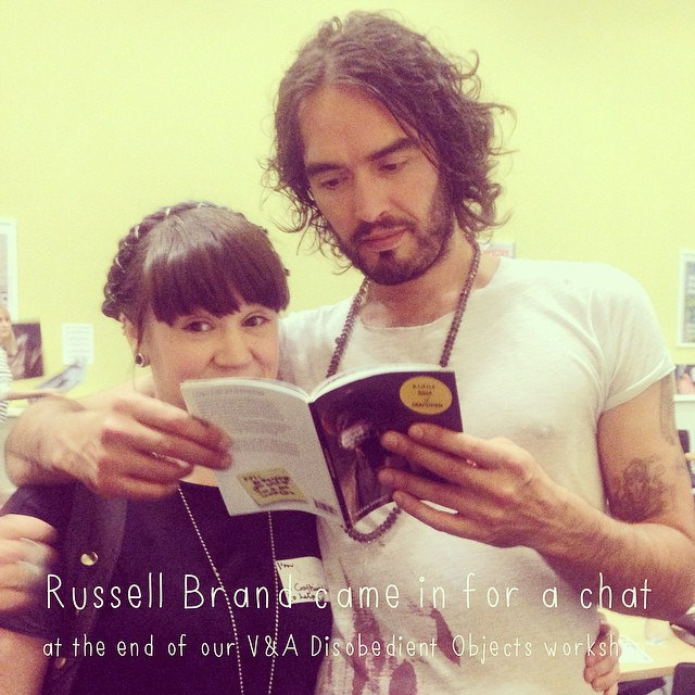 Russell Brand & his mum came to our last V&A workshop for a chat & hear more about what we do