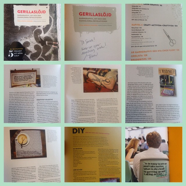 "We are heavily covered in the lovely Frida Frida Arnqvist Engström's swedish language book ""Gerillaslöjd"" released August 2014. Meaning ""guerrilla craft"""