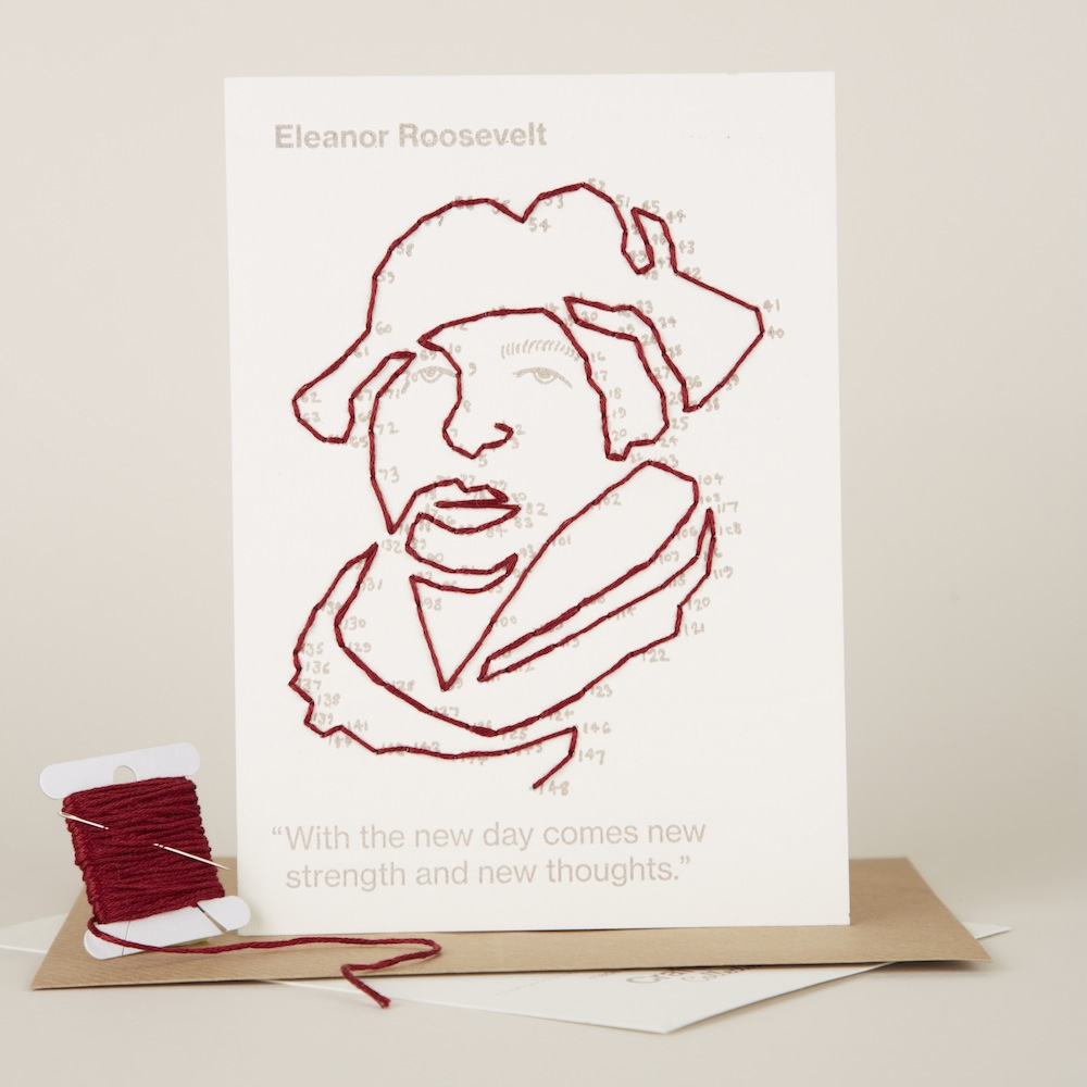 Eleanor Roosevelt portrait you can buy in a single pack or in a set of 5