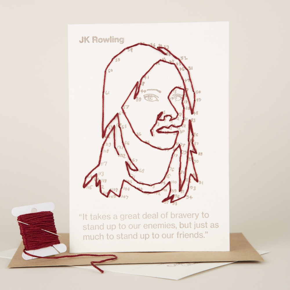 JK Rowling portrait you can buy separately or in a pack of 5 with 4 other changemakers