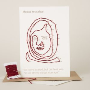 Malala portrait you can buy separately or in a pack of 5 with 4 other changemakers