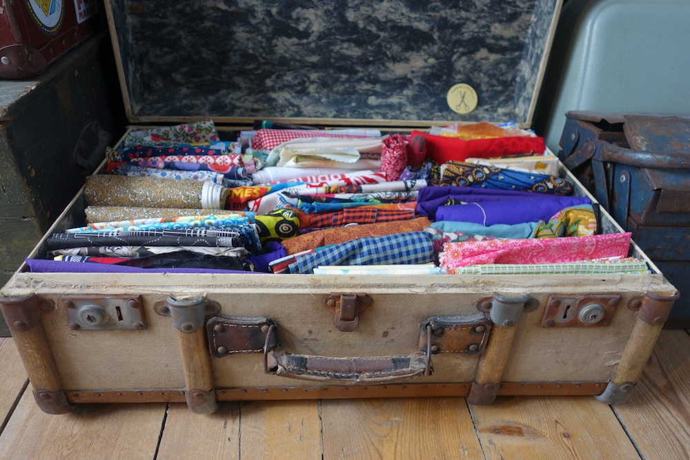 We need your fabric please to fill up our craftivism suitcase :) - Craftivist Collective