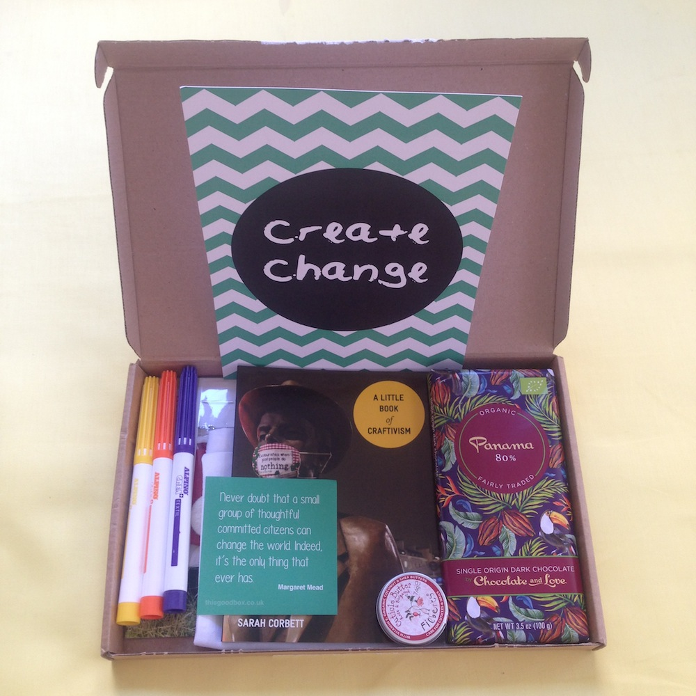 We are in 'This Good Box' on the theme of create