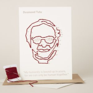 Desmond Tutu portrait you can buy in a single pack or in a set of 5