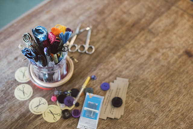 crafty tools scissors and thread