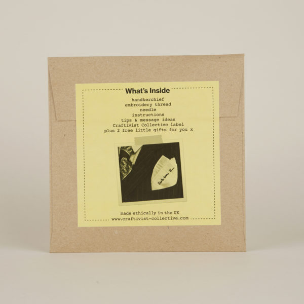 'Don't Blow It' Hanky Kit - back label