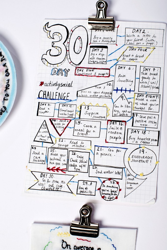 """30 Day Actively Social Challenge"""