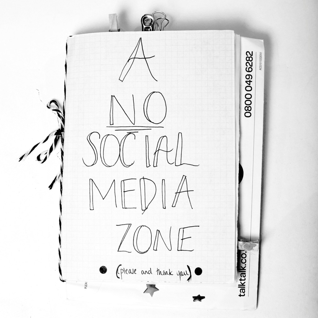 A No Social Media Zone. Photographer: Shannon Darby-Jones.