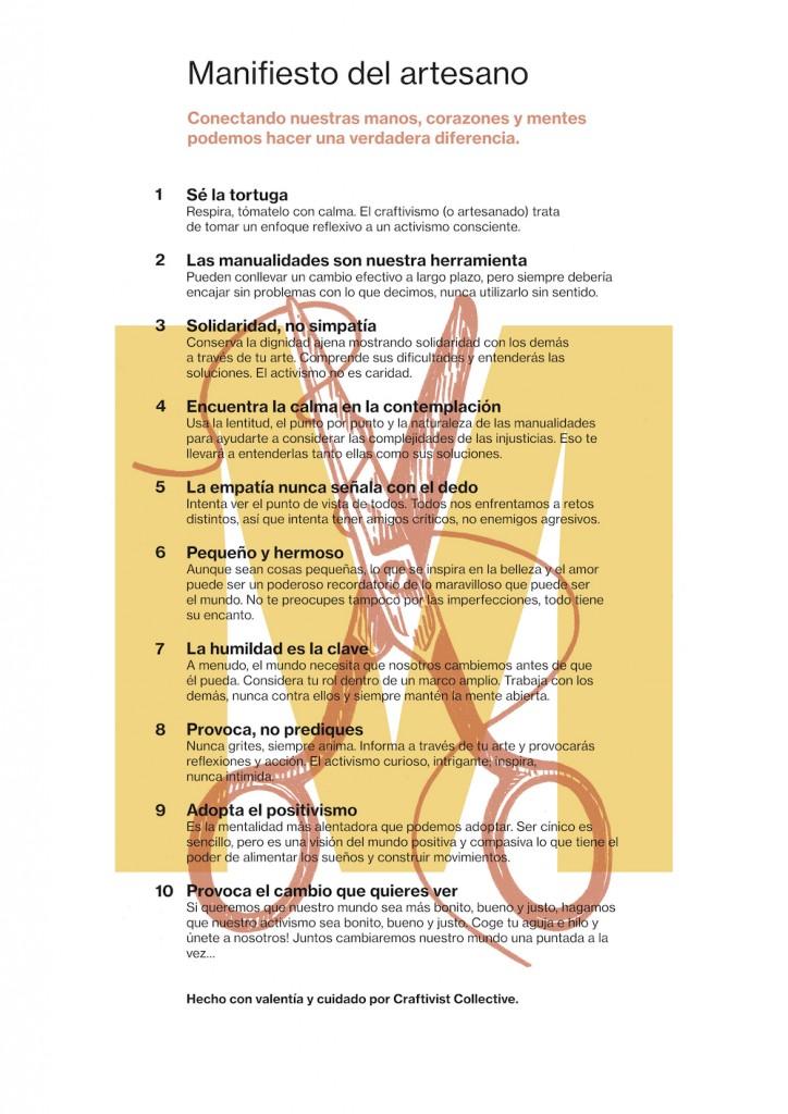 Craftivists Manifesto (Spanish) web res